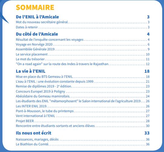 sommaire journal 33